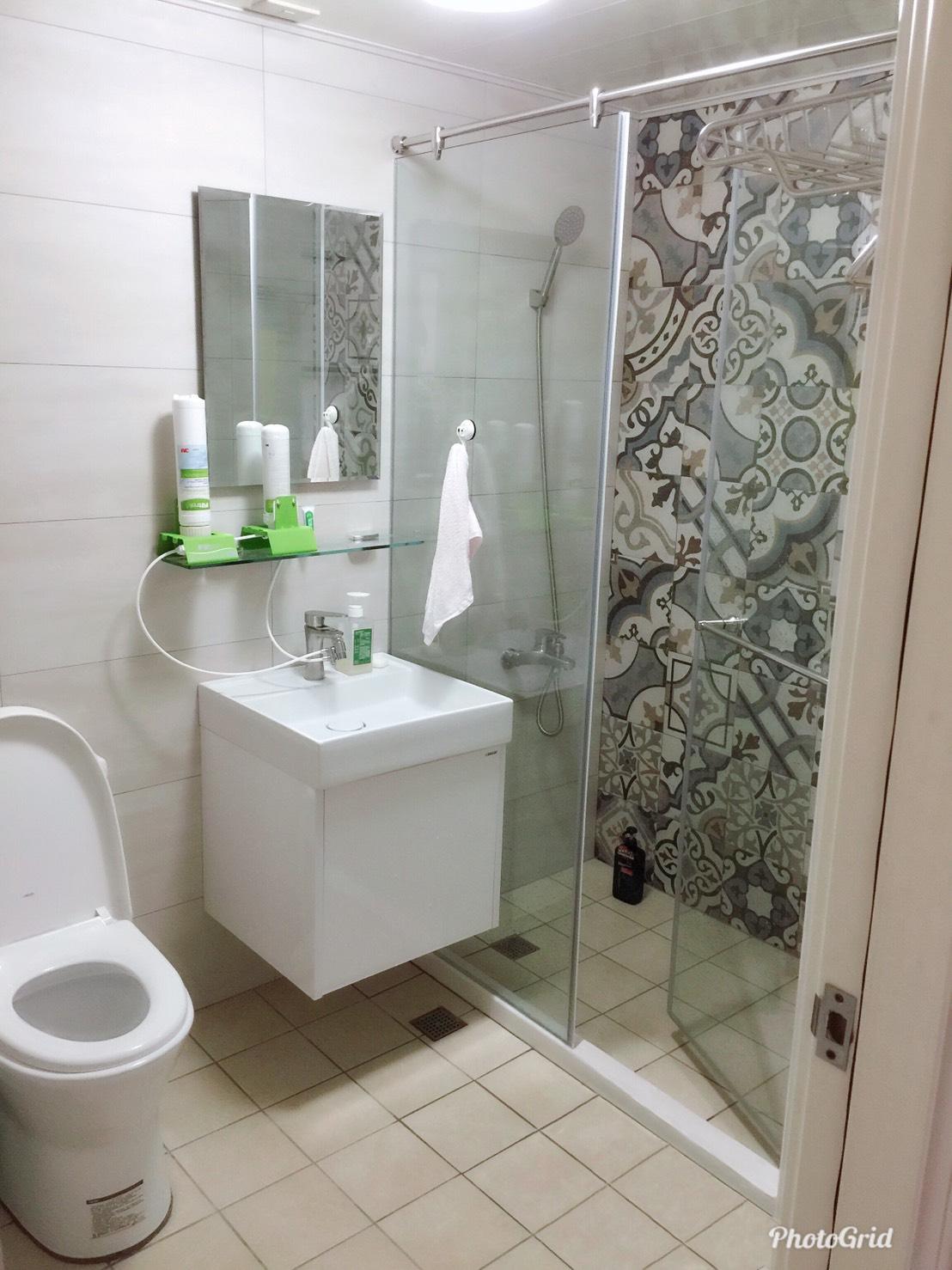 (20)浴室一字型淋浴乾濕分離安裝完工
