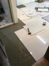 (10)地面磁磚黏貼施工