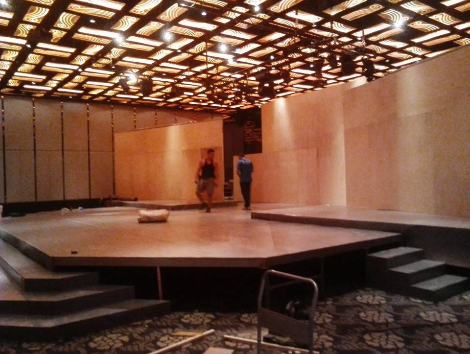 婚宴舞台地毯鋪設02
