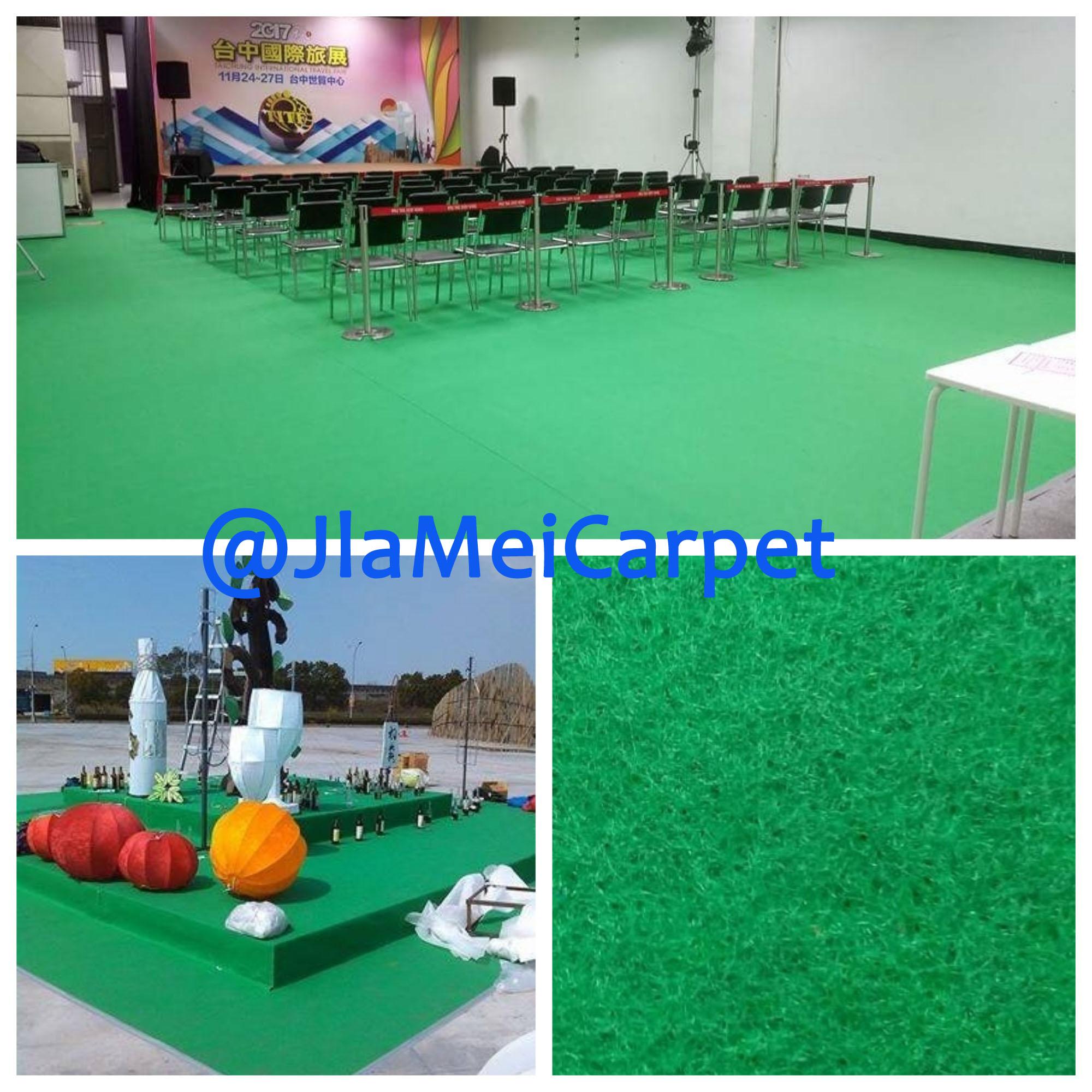 不織布地毯施作圖 鮮綠