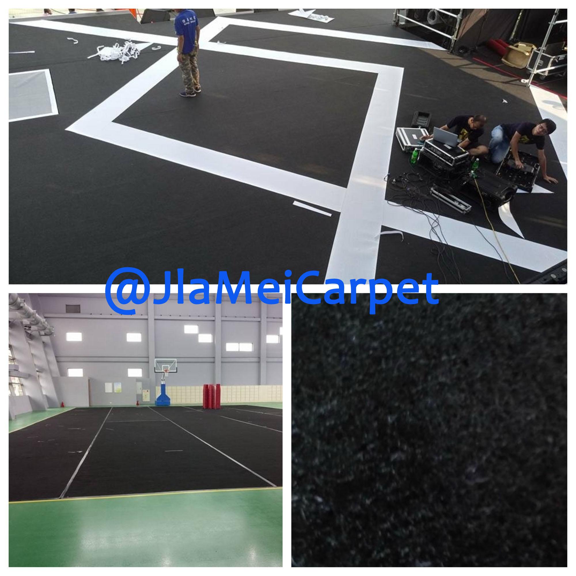不織布地毯施作圖 黑色