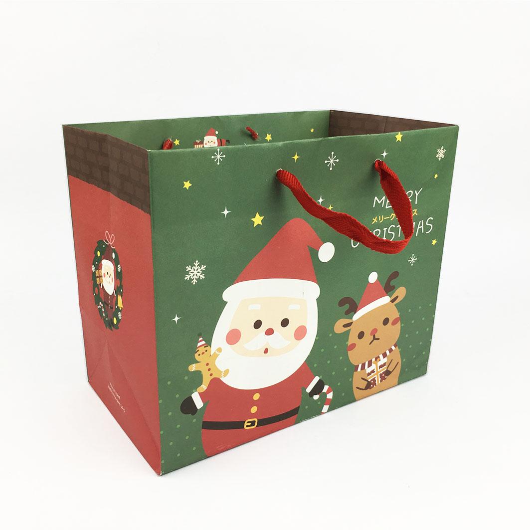 XM12 耶誕系列棉把手提紙袋-耶誕夢樂園