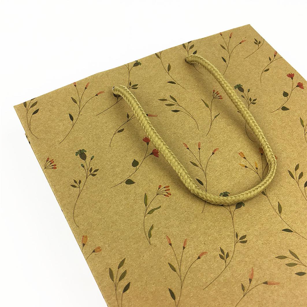 香草菲菲牛皮手提紙袋