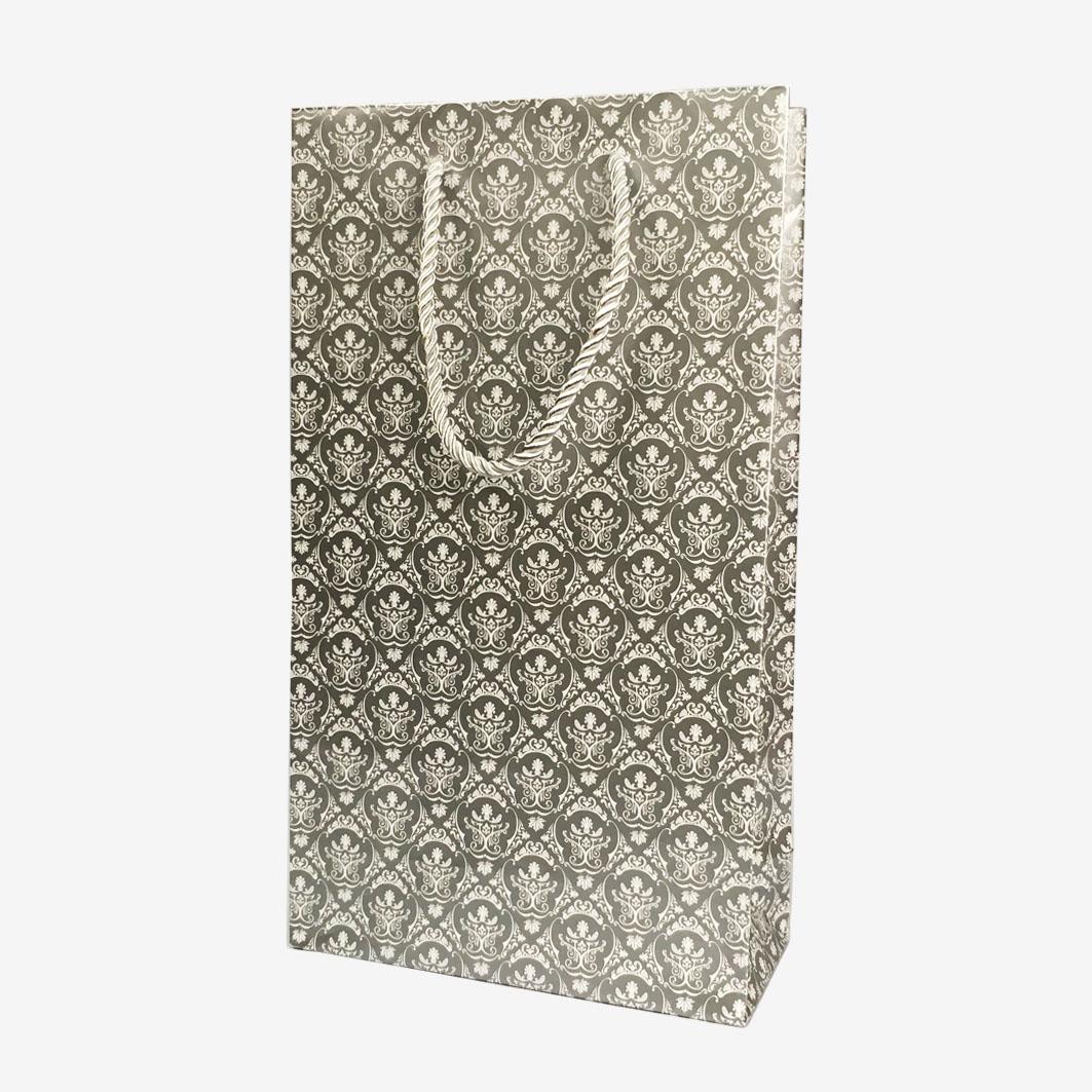 B882 雙瓶裝禮品袋-尊爵銀