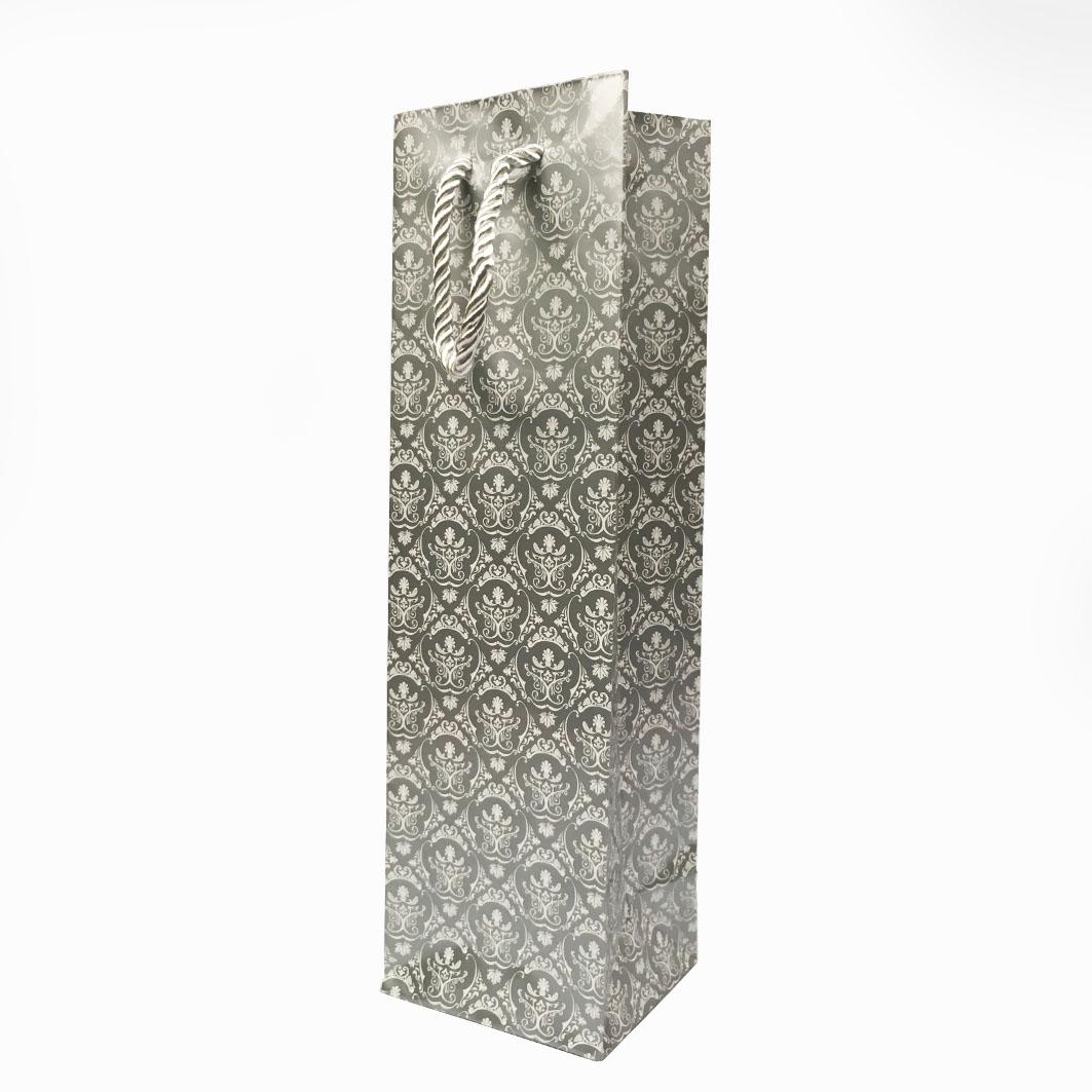B881 單瓶裝禮品袋-尊爵銀