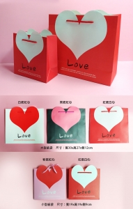 B62 愛心LOVE手提紙袋