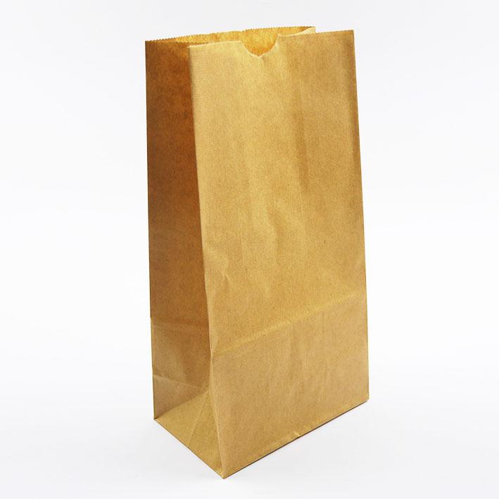 E32 素牛皮平口立體紙袋