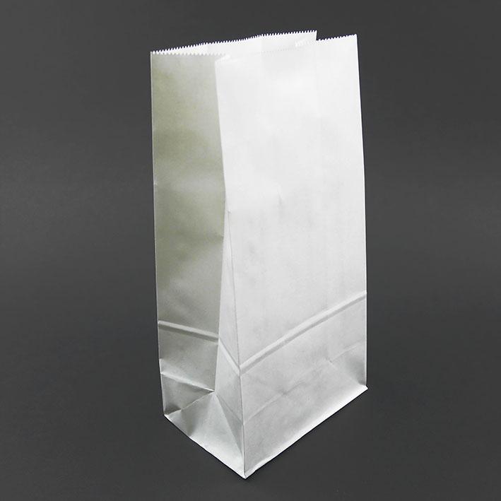E55 白牛皮立體平口紙袋