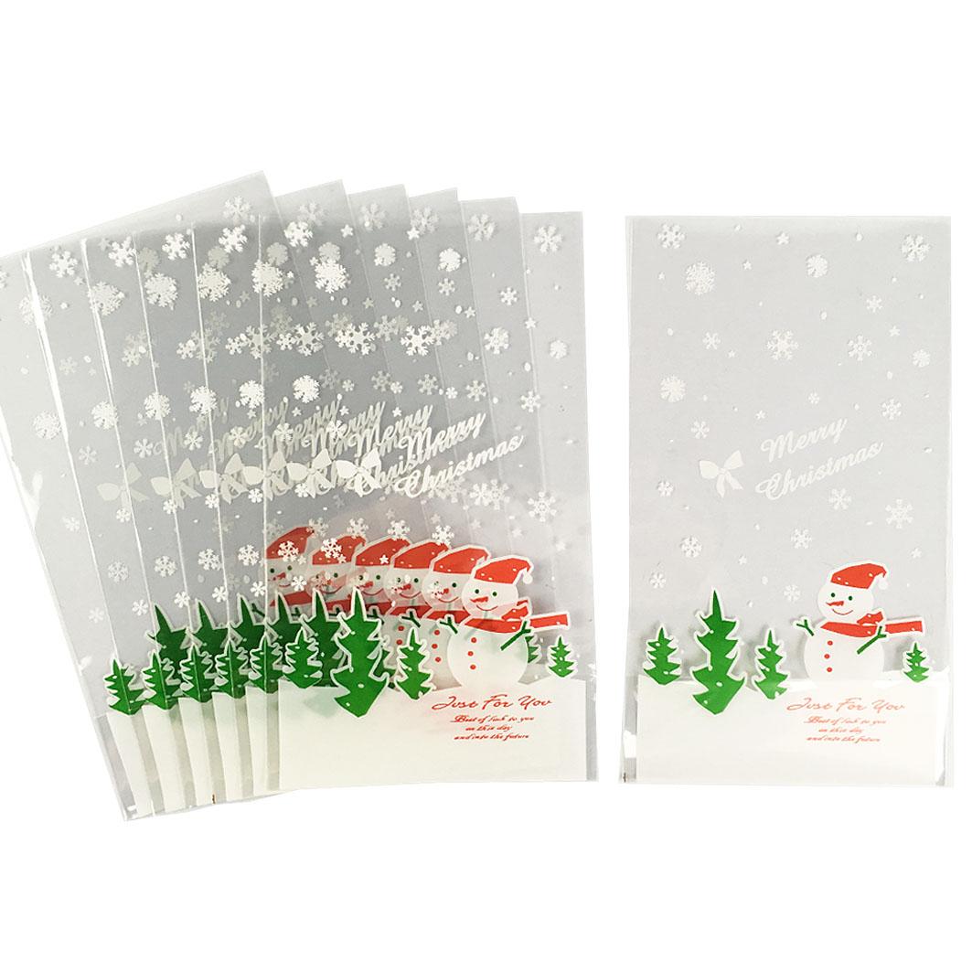 XM41 耶誕系列OPP立體平口袋-雪人