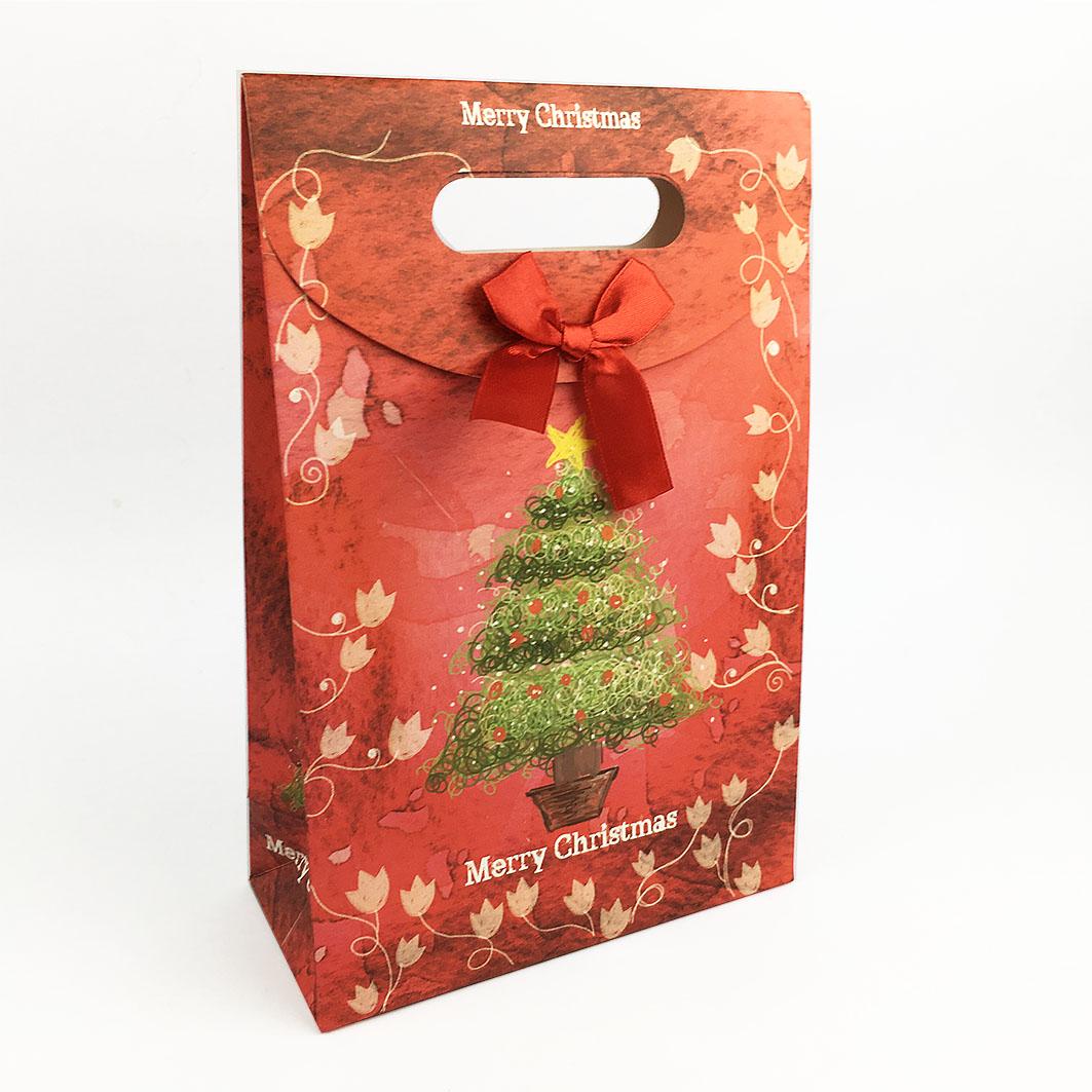 XM09 耶誕系列打洞禮品紙袋-耶誕樹