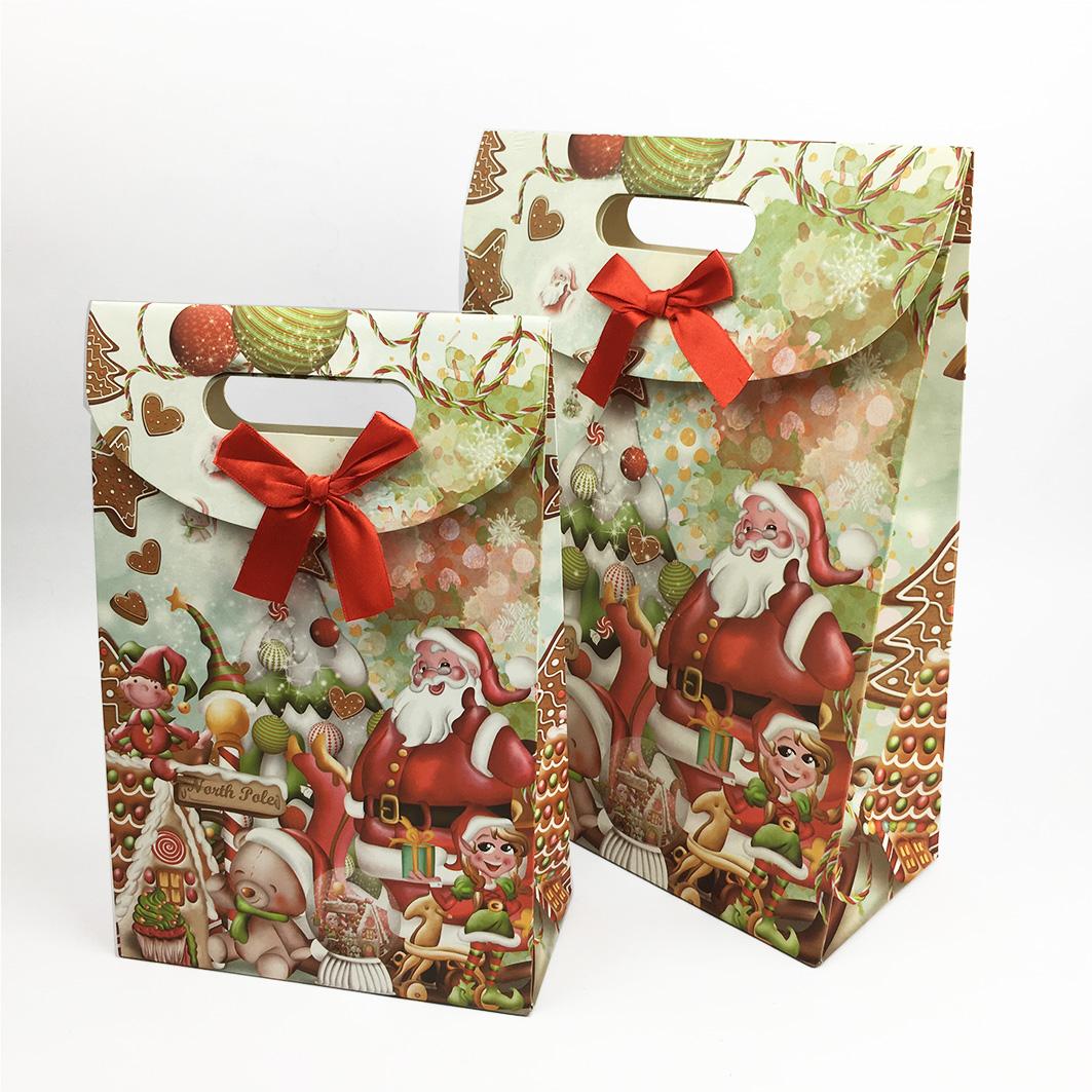 XM08 耶誕系列打洞禮品紙袋-耶誕派對