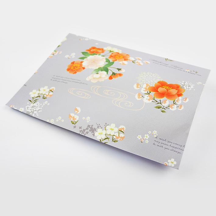 E61 花羽蒔光平口紙袋