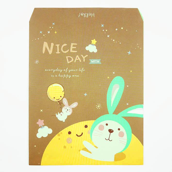 E63 啵啵兔(信封型紙袋)