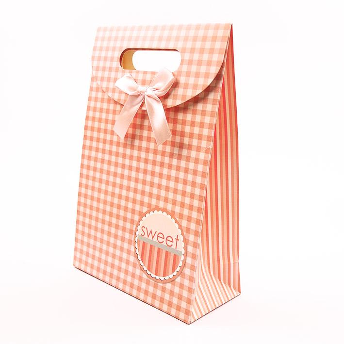 B199 打洞禮品袋-粉格
