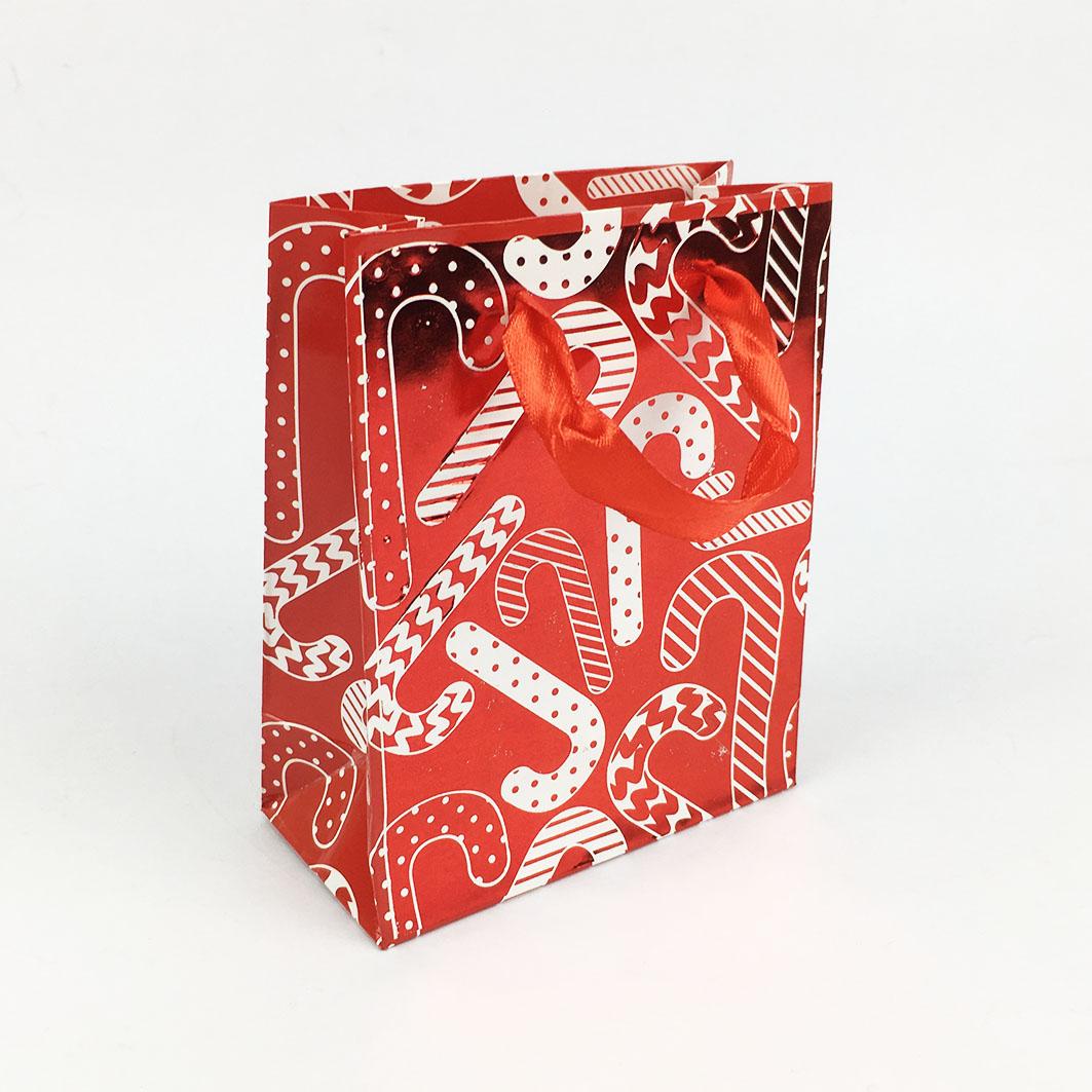 XM13 耶誕系列手提小禮袋-歡樂拐杖糖