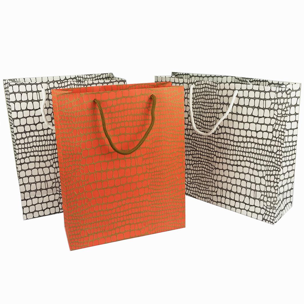 B101 羅意威鱷紋棉把手提紙袋