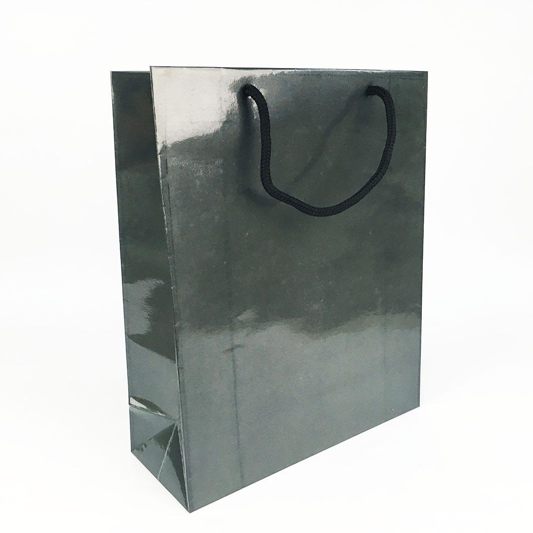 B102 鐵灰亮P日本棉把手提紙袋