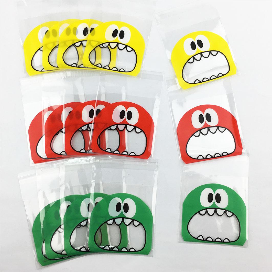 V302 OPP彩色自黏袋-怪獸大嘴巴