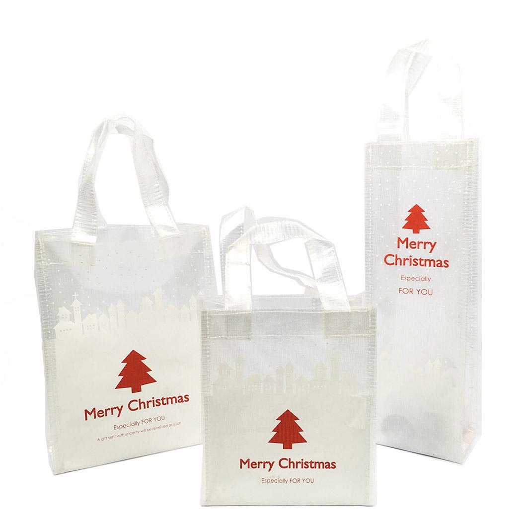 XM30 耶誕系列透明帆布手提禮袋