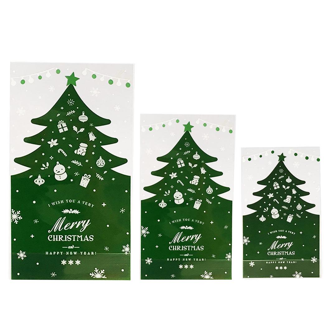XM42 耶誕系列OPP立體平口袋-綠色耶誕