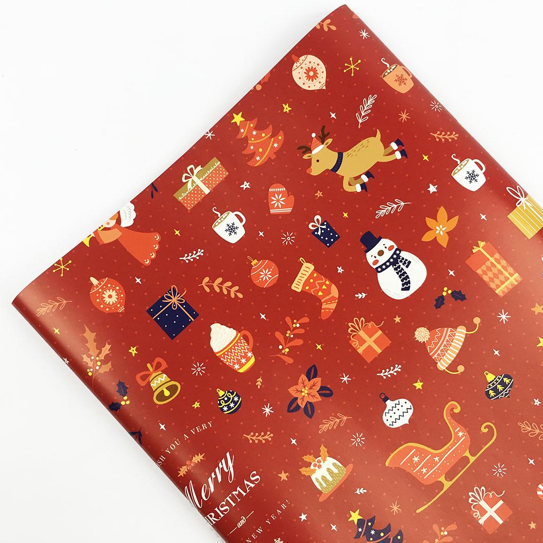 XM49 耶誕系列包裝紙-耶誕市集