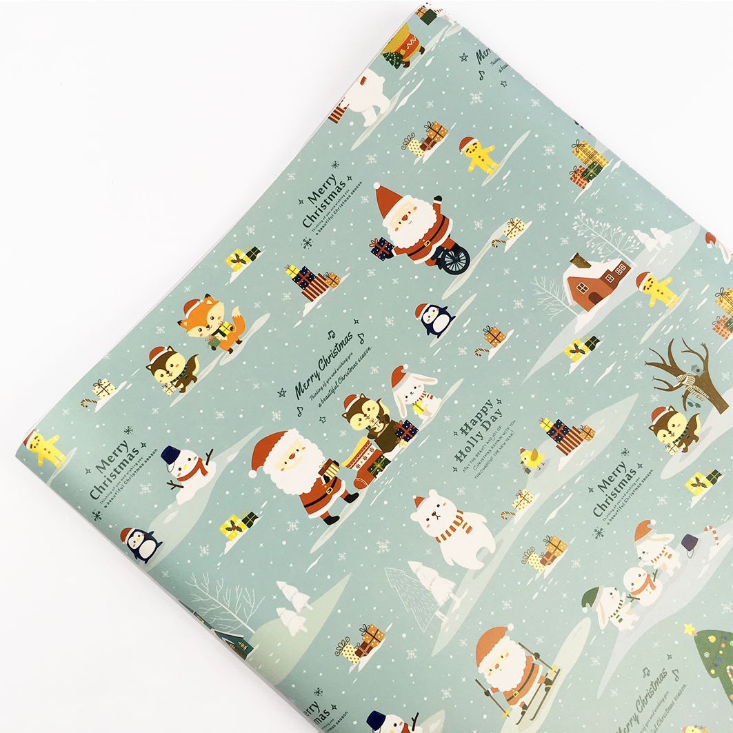 XM50 耶誕系列包裝紙-聖誕老人村