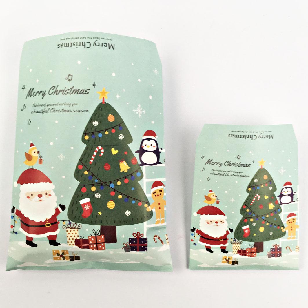 XM53 耶誕系列平口紙袋-聖誕老人村