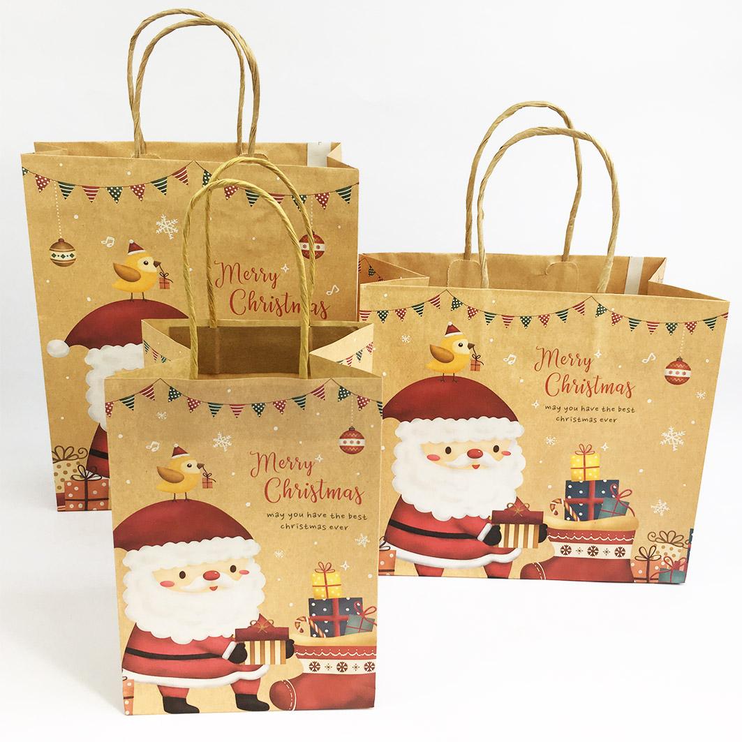 XM57 耶誕系列紙把手提袋-聖誕復古趴