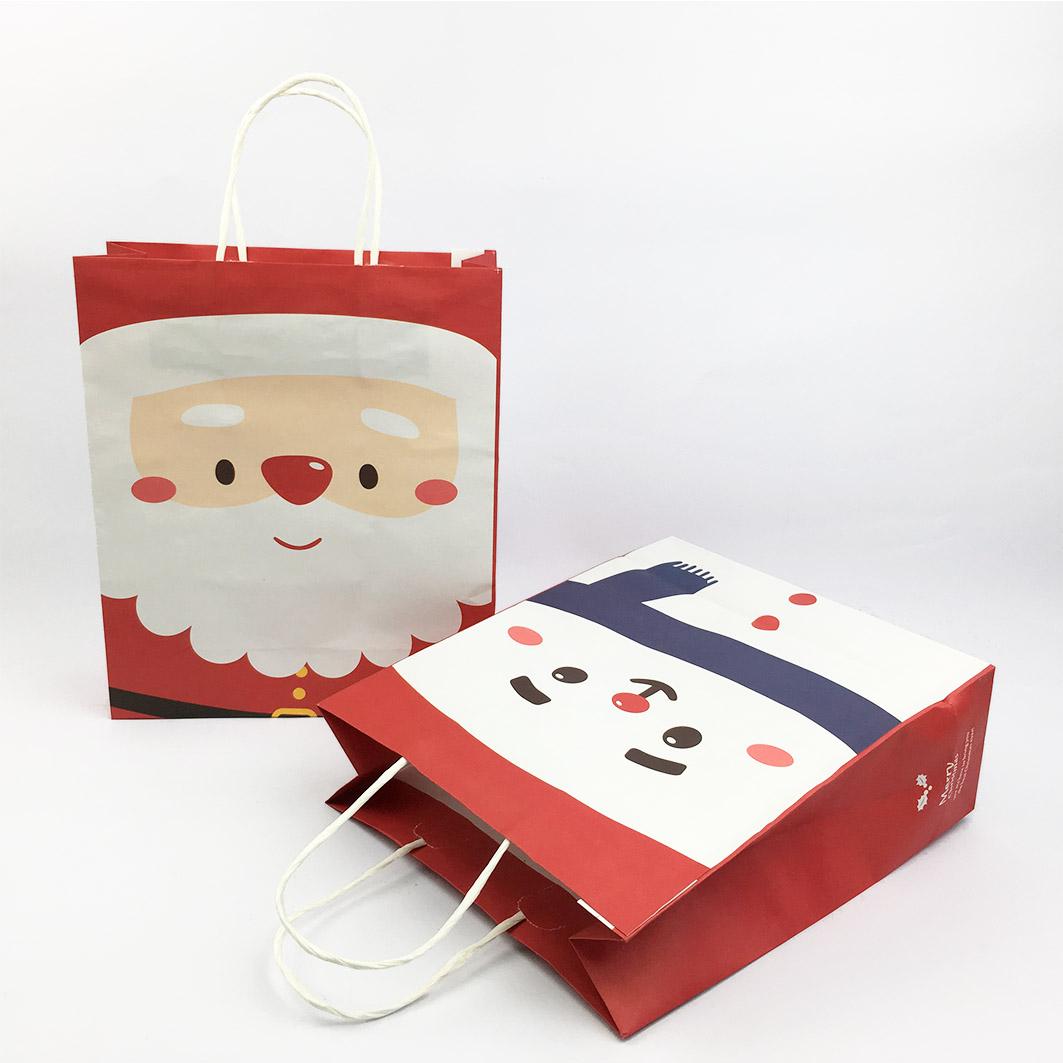 XM58 耶誕系列紙把手提袋-耶誕大頭照