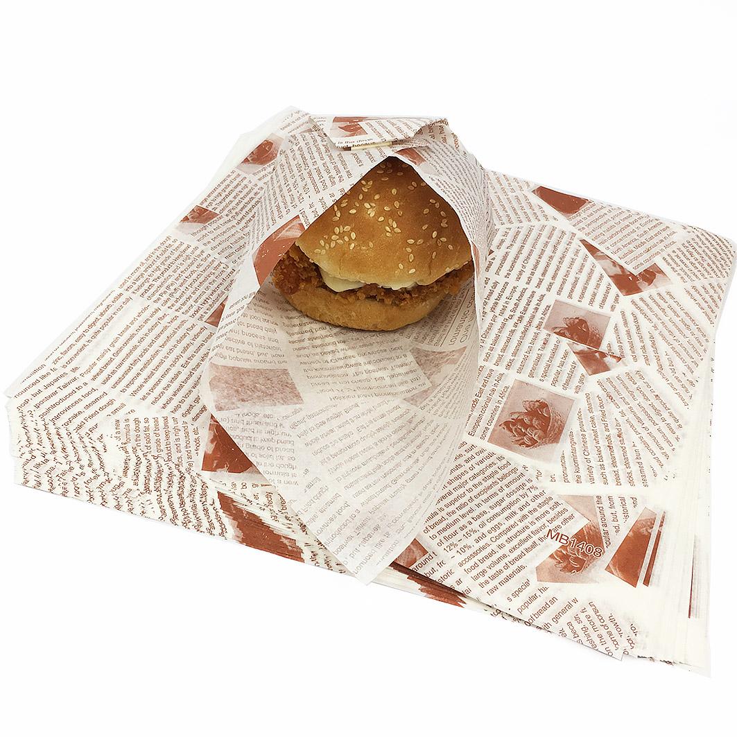 A19 防油食品包裝紙-方形 (漢堡紙)