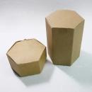 X190 六角素牛皮紙盒