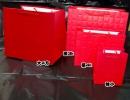 b152 紅色大方格紋紙袋