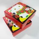 X14 春節餅乾盒-招財貓方形食品紙盒