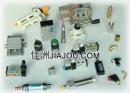 空壓零件-三點組合、電磁閥、手動方向切換閥、空氣濾清器、調壓閥、速度控制閥、腳踏開關、洩壓閥、真空發生器、真空吸盤、真空吸筆、消音器、止逆閥、氣壓缸、氣動閥、自動排氣閥、自動排水器、凸輪作動閥、滾輪閥、觸擺閥、噴槍、噴射控制器、手柄作動閥、磨菇按鈕閥、安全閥、調速消音器。拷貝