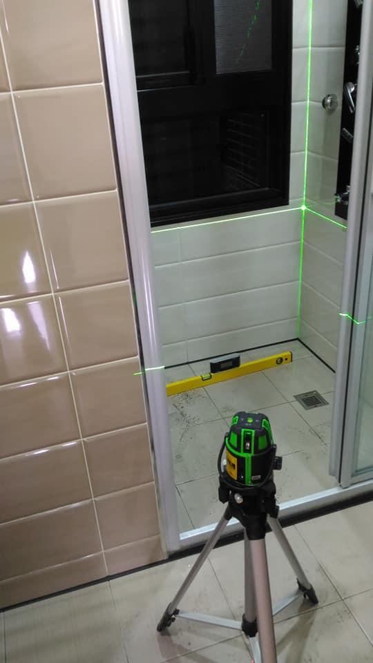 衛浴地板洩水傾斜波度檢測