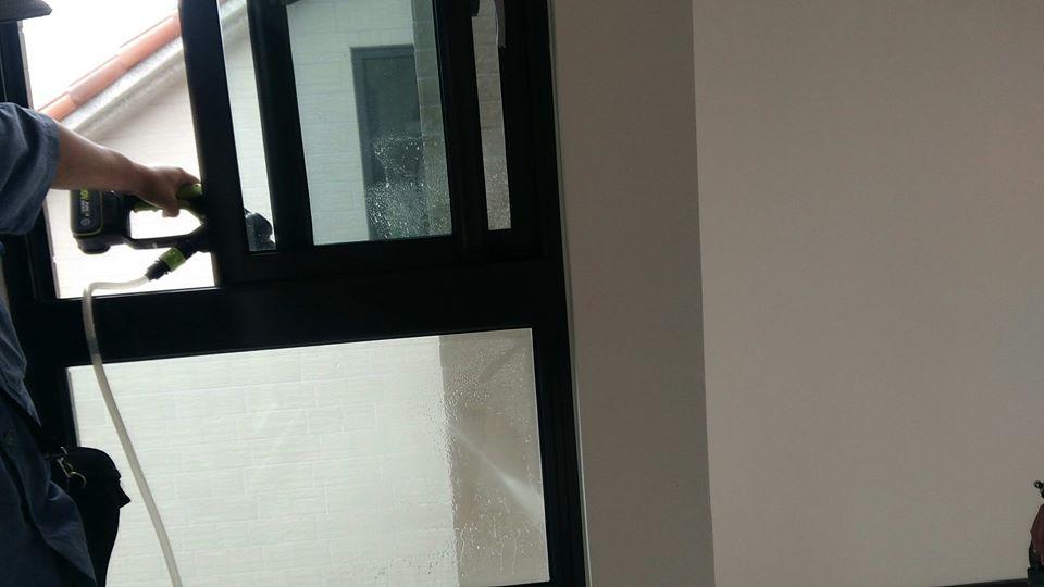 水刀測試氣密窗防水