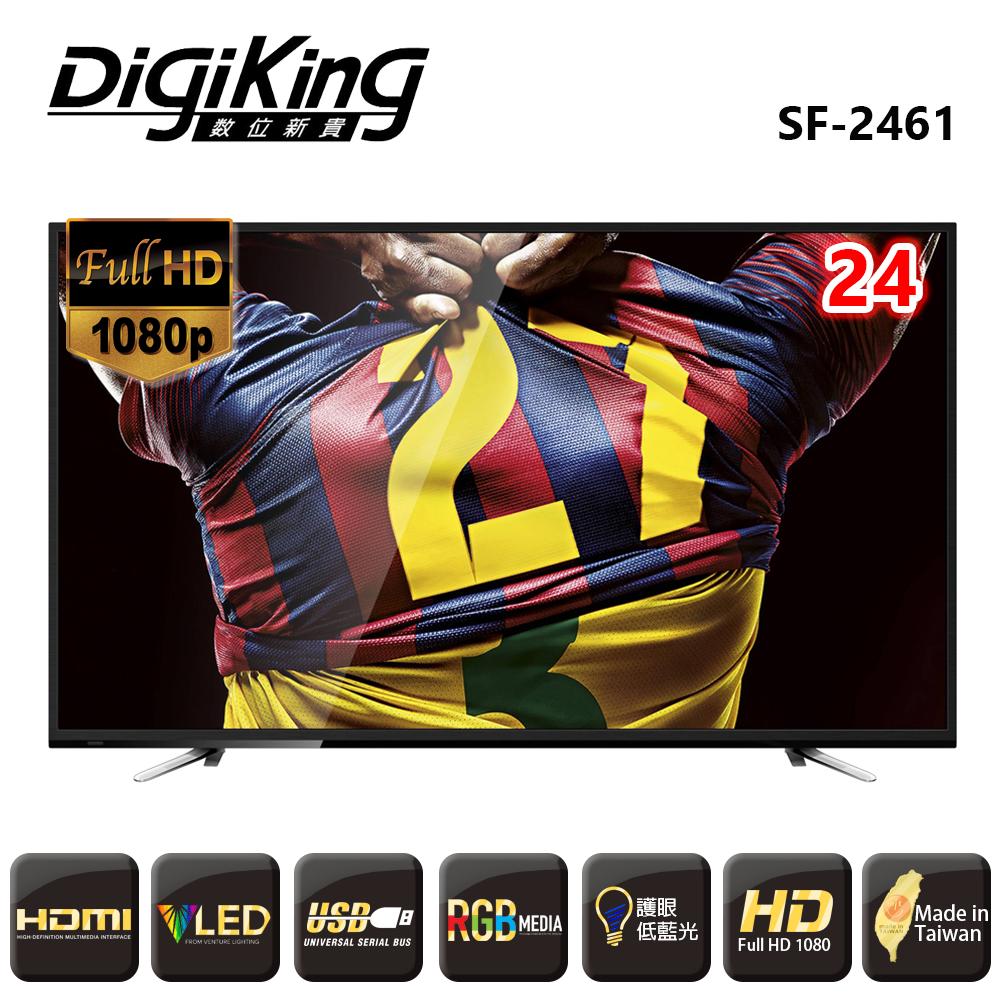 DigiKing 24吋液晶高級顯示器+視訊盒 LED TV