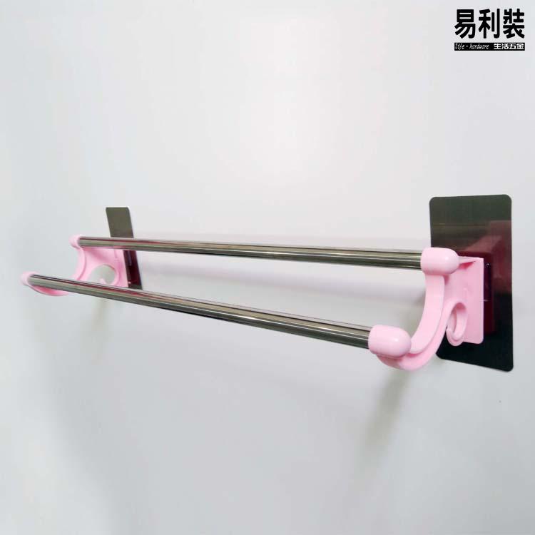 EC042 不銹鋼拉絲強力無痕雙桿毛巾杆-管長54cm