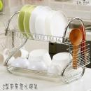 EC055 S型廚房瀝水碗架/多功能雙層置物架