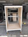 組裝免螺絲側封板倉儲車輪架