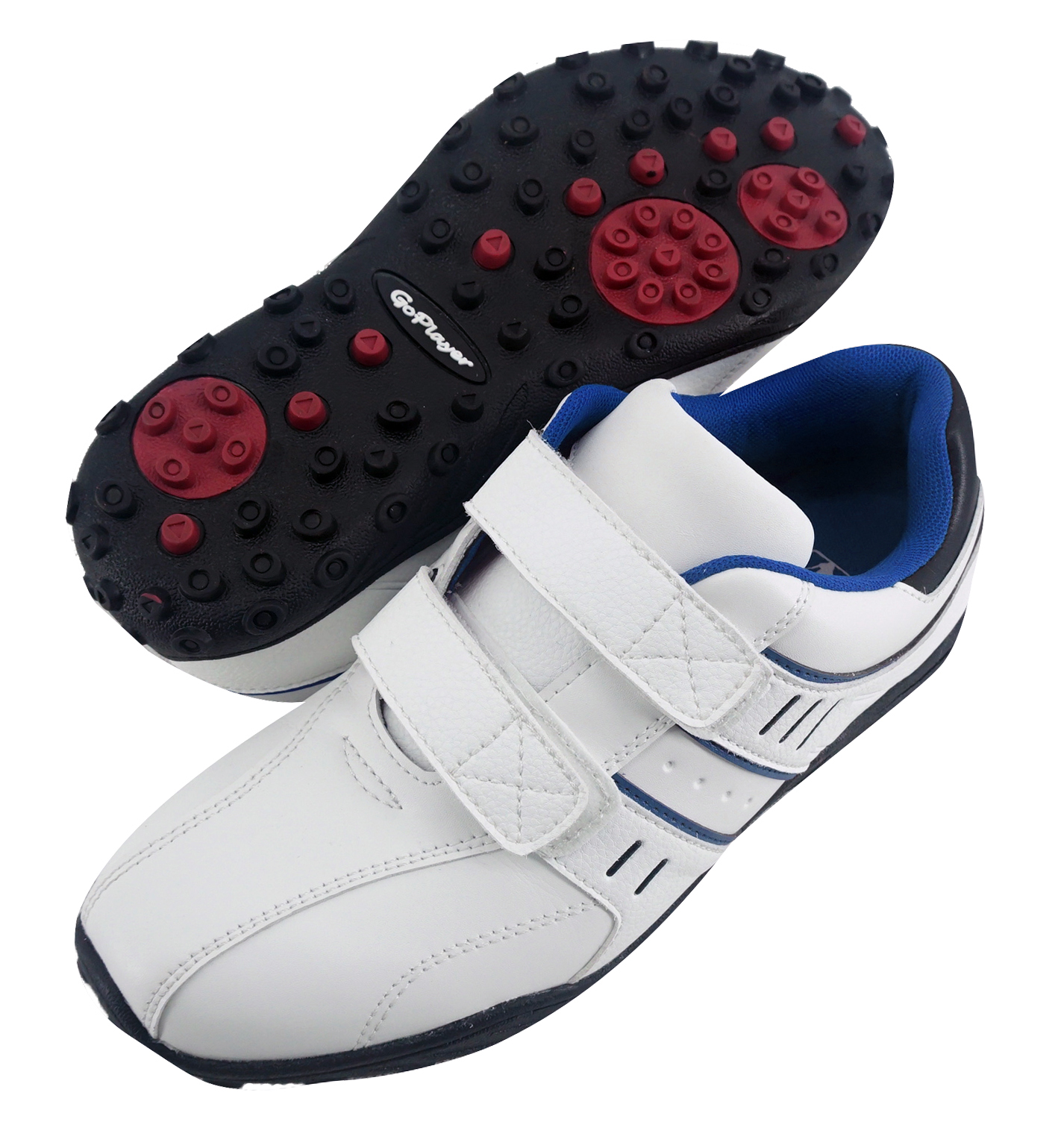 GP黏扣兩用鞋(白配藍)GSH1028