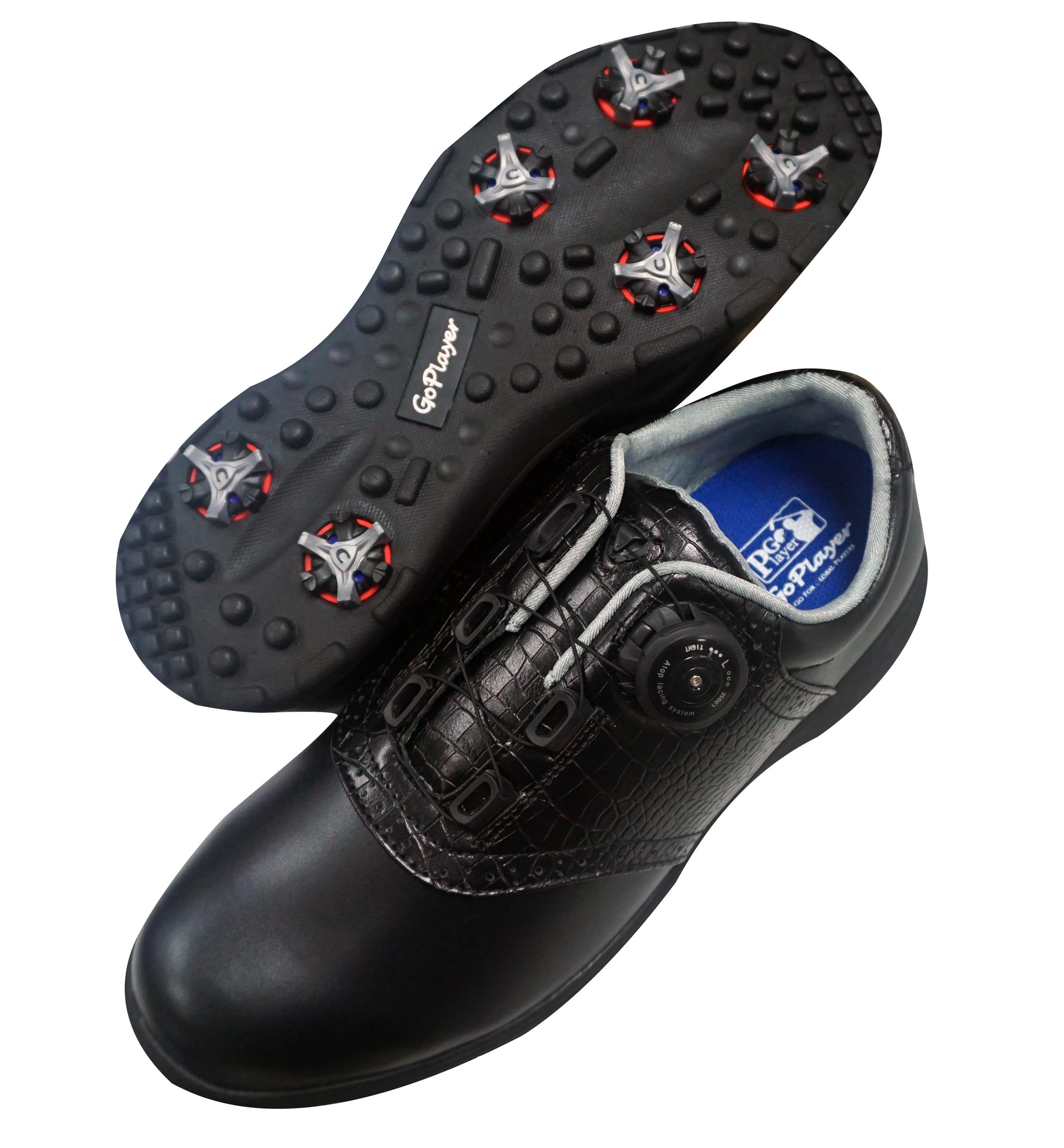 GP輕量有釘旋紐鞋(黑)GSH1021