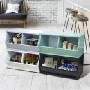 (2格)DIY質感斜取式造型收納櫃/可堆疊收納櫃/格櫃/斜櫃/置物櫃/置物盒~ #樂創木工#