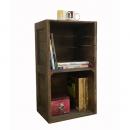實木開放式兩格櫃 /書櫃/收納櫃/置物櫃/展示櫃