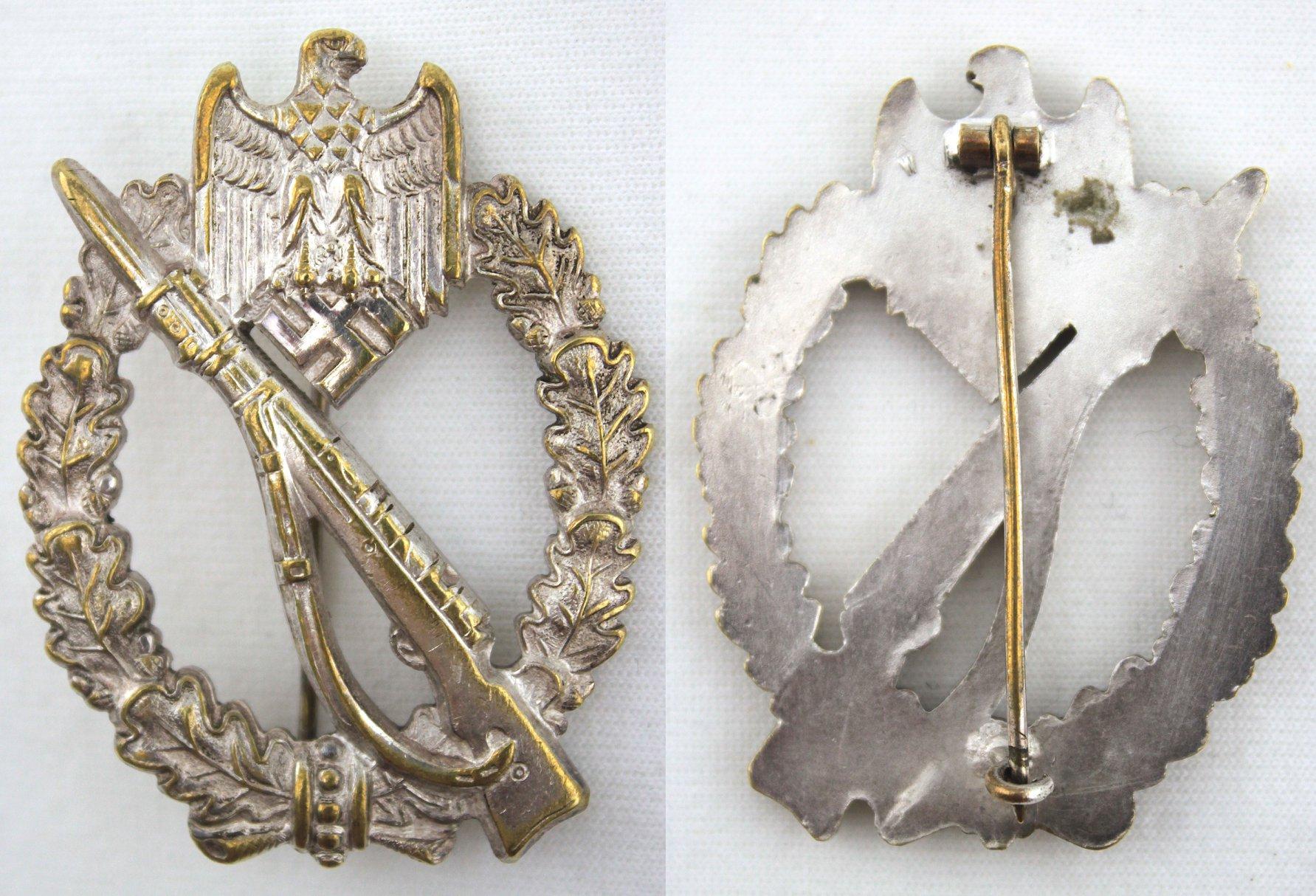 二戰德軍銀級步兵突擊章,Wurster 打標作品
