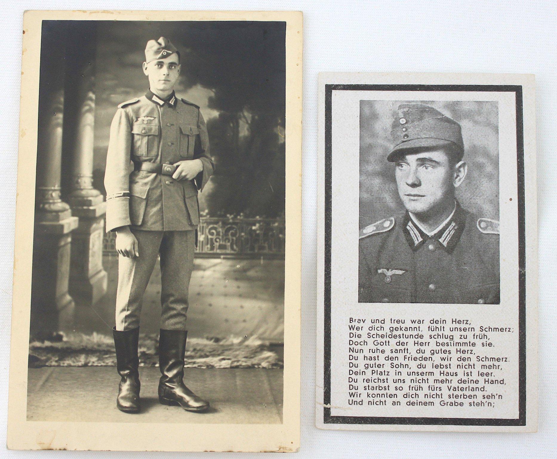 二戰德國大德意志師GD師士兵獨照(名信片尺寸)