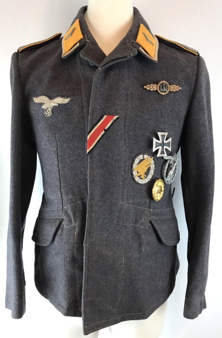 二戰德國空軍傘兵/飛行科下士兩口袋毛料戰鬥服