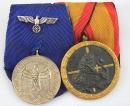 [已售出 SOLD] 二戰德軍二連勳排,陸軍四年服役章和西班牙內戰獎章