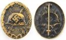 [已售出 SOLD] 二戰德軍黑戰傷,銅片沖壓作品