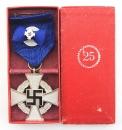 納粹德國時期25年公務員服務章+迷你章套組